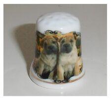 Ditale in ceramica, animali cani bulldog cuccioli, ditali di porcellana