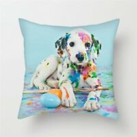 New Winsome Dalmation Puppy Painter Throw Pillow Case/Cover/Slip 18in x 18in
