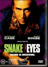 SNAKE EYES - DVD R4 (2002) Nicolas Cage Gary Simise - LIKE NEW - FREE POST