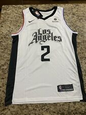 Kawhi Leonard LA Clippers Jersey Size Large - White City Edition NWT Stiched