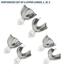 Dental Impression Plateaux Rim Lock Perforé (Ensemble de 6) L, M, S Upper/Lower Set