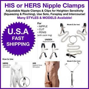 Metal Chain Nipple Clamps Breast BDSM Slave Adult Sex Toy Fetish Nipplesuckers