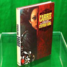 Carrie by Stephen King Book Club Edition Gutter Code O32 NEAR FINE NEAR FINE