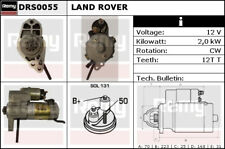Starter Motor fits LAND ROVER DISCOVERY Mk3 Mk4 2.7D 04 to 18 276DT Remy Quality