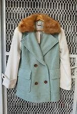 Dazzling  mint green and white jacket size  S-M  NWT