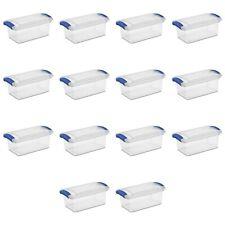14-PACK Sterilite 7Qts (224oz) Easy Storage Latch Box, Blue Handle FREE SHIPPING