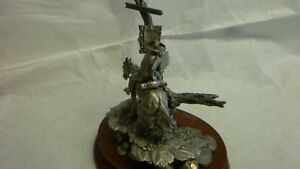 CHILMARK DON POLAND PEWTER SCULPTURE WANTED LIMITED EDITION