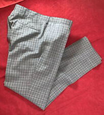 """NEW Tommy Hilfiger 100% Virgin Wool Grey Check Trouser Size 34"""" W  32"""" L"""