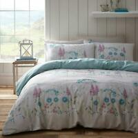 Blue Duvet Covers Floral Meadow Countryside Flowers Quilt Cover Bedding Sets