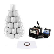 Pressa per Tazze per Stampa Sublimazione, 72 Tazze & Morsetto per Tazze da 325ml
