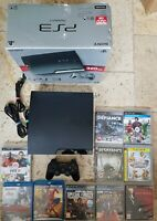 Boxed Sony PlayStation 3 320GB Console Bundle 8 Games + 2 Blu Rays VGC FAST POST
