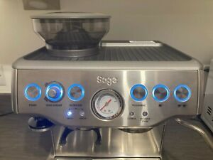 Sage The Barista Express BES875 Bean to Cup Coffee Machine FAULTY pressure gauge