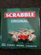 Scrabble Original Compact Travel Game  Letter Tiles Board 4 Racks contents new