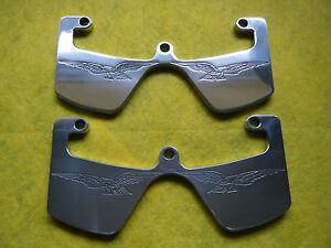 CNC ENGRAVED ALUMINIUM HEAD GUARDS PROTECTORS MOTO GUZZI V35 V50 V65 V75