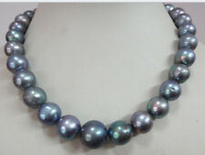 """HUGE 18""""15MM NATURAL AUSTRALIAN SOUTH SEA GENUINE SILVERY GRAY PEARL NECKLACE"""