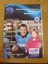 14/12/2013 West Midlands Police v Aston  . Item in very good condition, unless p