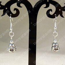 Beautiful Tibet silver handmade Lucky happy Buddha earrings NO:065