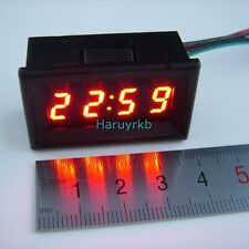 "0.30"" LED Electric Vehicle Digital Car Motorcycle Clock Watch Time 12V 24v RED"