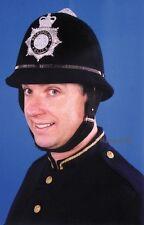 Bobby Helmet Police Hat British London Quality Costume Keystone Badge Metro Cop