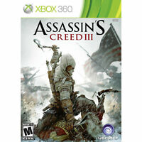 Assassin's Creed III 3 Microsoft Xbox 360 2 Disc Game