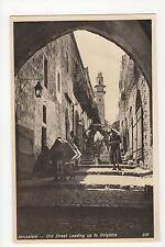 Jerusalem, Old Street Leading Up to Golgatha Postcard, A549