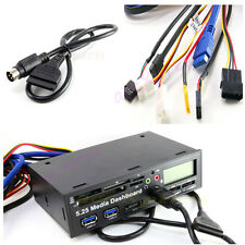 5.25inch USB 3.0 PC Universal Media Dashboard Front Audio Card Reader Panel LCD