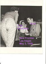 ELVIS JUDY SPRECKELS PIANO NEW FRONTIER VEGAS 5/5/56 VTG ORIGINAL CANDID PHOTO