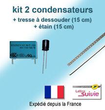 KIT 2 CONDENSATEURS REPARATION PANNE SENSEO EPCOS 0,47µF 250V/305V + 470µF 16V