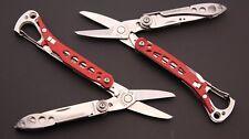 TSA Lot of 2 Leatherman Style CS 6 Function Multi-Tool Knife Red Lot #42