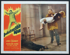 INDESTRUCTIBLE MAN LON CHANEY HORROR 1956 LOBBY CARD