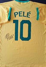 PELE Signed BRAZIL Shirt WORLD CUP Legend COA