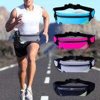Waterproof Women Men Waist Belt Pack Bag Phone Pouch Sport Jogging Running US