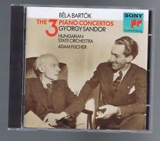BELA BARTOK CD THE 3 PIANO CONCERTOS/ GYORGY SANDOR/ ADAM FISCHER