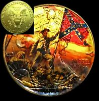 MAJESTIC Battle Scene On 2019 Liberty 1oz Silver 24kt Gilded Coin