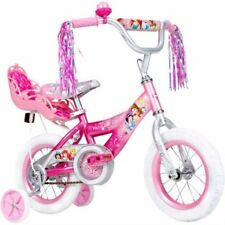 """12"""" Huffy Disney Princess Girls' Bike with Doll Carrier toddler child bicycle"""