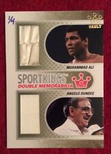 Muhammad Ali + Angelo Dundee FIGHT WORN material boxing card Limited Edition 1/4