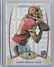 2012 Topps Platinum Football Robert Griffin III Xfractor Rookie Card # 120