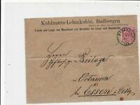 Germany 1891 Stamps Cover to Essen Oldenburg Badbergen Cancel Ref 23262