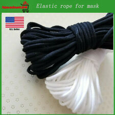 3mm Round Elastic Band Cord Stretch Ear Hanging Sewing For Face Cover Crafts