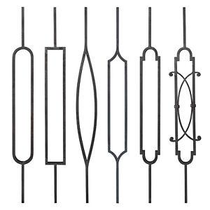 Decorative Wrought Iron Metal Balustrade Steel Picket Panels