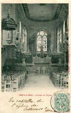 Carte CRECY EN BRIE Intérieur de l'église