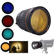 Nanguang Ng-10X Fresnel Lens Bowens Mount For Studio Speedlite + 4 Colors Filter