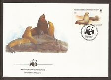 Chile.1984 FDC.  WWF. Endangered animals. Sea Lions