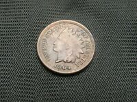1864 Indian Bronze Cent  VF/XF details