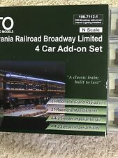Kato Penn Broadway limited 4 Car Add On Factory Lights New