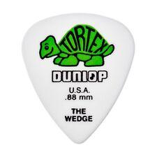 Dunlop 424R.88 Tortex Wedge Guitar Picks White/Green 0.88mm 72-Pack