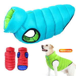Dog Coats Waterproof with Harness Hole Winter Warm Down Jacket Large Pet Clothes