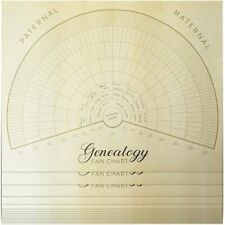 Blank Family Tree Genealogy Charts (17 x 22 Inches, 15 Pack)