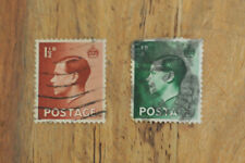 Gb King Edward Viii definitive postage stamps-both hand cancelled x2 1 half D