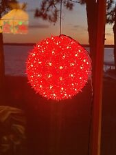 Starlight Sphere 100 Light 7.5 Inch RED Lighted Ball Holiday